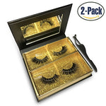 Alluring 3D &Amp; 4D Mink Fur False Eyelashes Pairs,100% Natural Soft Curl Genuine Siberian Mink Hair Hand-Made Luxury Fashion Fake Lashes In Premium Box Package With Mirror &Amp; Tweezer