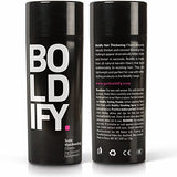 Boldify Hair Fibers For Thinning Hair - 100% Undetectable Keratin Fibers - 25G Bottle - Completely Conceals Hair Loss In 15 Seconds (Medium Brown)