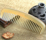 Myhsmooth Sh-By-Mt Wide Tooth 100% Handmade Premium Quality Natural Sheep Horn Comb Without Handle(6.4'')