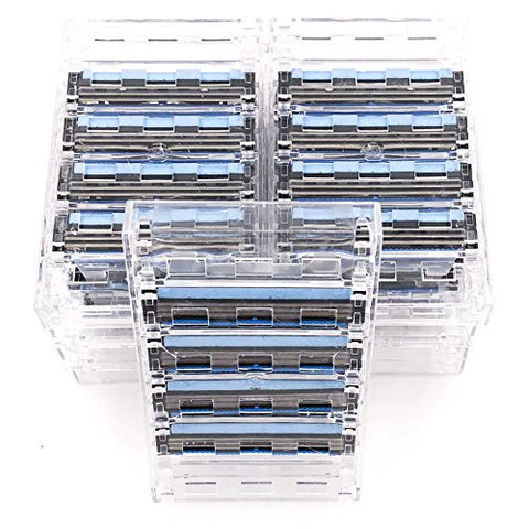 40 Taconic Shave Triple Blade Cartridges (10 X 4), Compatible With All Gillette Sensor And Personna Triflexx Razor Handles, Made In The Usa