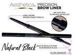 Aesthetica Precision Brow Liner - Eyebrow Pencil/Spoolie Brush