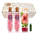 Oahu Coconut Sunset Bath &Amp; Body Works 4 Piece Set Of 2 Fragrance Mists &Amp; 1 Ultra Shea Body Cream In A Gold Scroll Gift Box With A Jarosa Peppermint Lip Balm