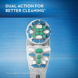 Oral-B Vitality Dual Clean Rechargeable Battery Electric Toothbrush With Automatic Timer, Powered By Braun