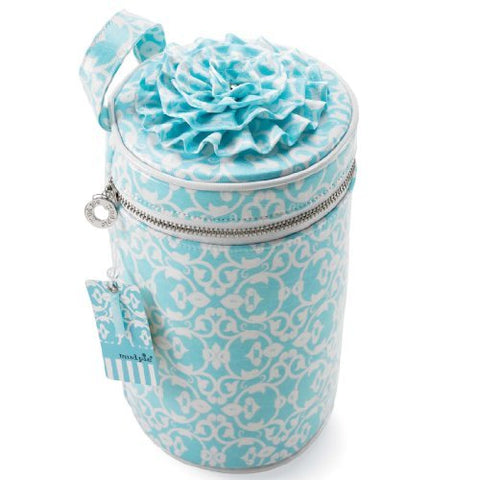 Blue Damask Bucket Toiletries Case By Mud Pie