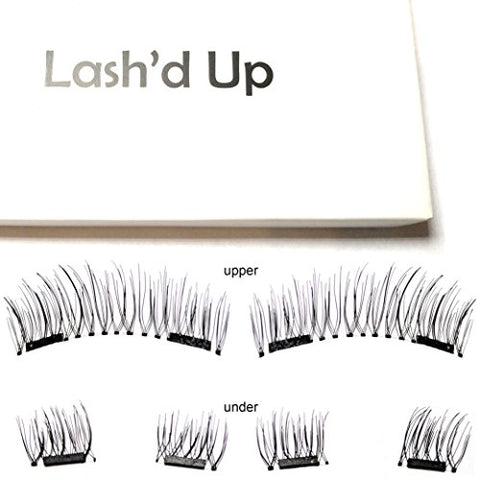Lash'D Up Magnetic Eyelashes Full Eyes Natural Look Grade A+ Silk [No Glue] Child Cancer Partner 2 Magnets Reusable False Lashes | I Woke Up This Way