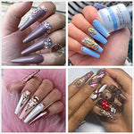 500Pcs Coffin Nails Clear Ballerina Fake Nails Tips Long Full Cover Acrylic Nails With Case For False Nail Salons And Diy Nail Art, 10 Sizes