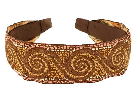 L. Erickson Usa Ribbon Headband - Mosaic Brown/Chocolate