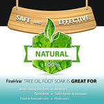 Tea Tree Oil Foot Soak With Epsom Salt - Made In Usa - For Toenail Fungus, Athletes Foot, Stubborn Foot Odorscent, Fungal, Softens Calluses &Amp; Soothes Sore Tired Feet.