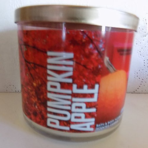 Bath And Body Works 3 Wick Pumpkin Apple Candle