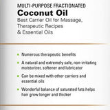 Majestic Pure Fractionated Coconut Oil, For Aromatherapy Relaxing Massage, Carrier Oil For Diluting Essential Oils, Hair &Amp; Skin Care Benefits, Moisturizer &Amp; Softener - 16 Ounces