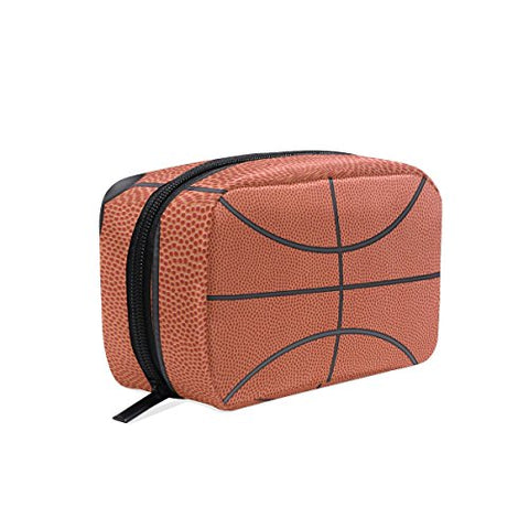 Makeup Bag Portable Travel Cosmetic Train Case Basketball Toiletry Bag Organizer Accessories Case Tools Case For Beauty Women