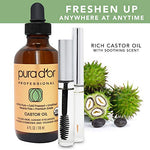 Pura Dor Castor Oil (4Oz) 100% Pure All Natural Oil For Hair Growth, Eyebrows, Eyelashes Cold Pressed Hexane Free Oil To Moisturize &Amp; Heal Dry Skin - Includes Bonus Brush Kit