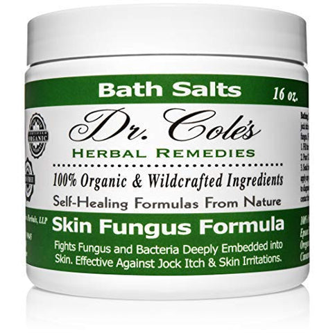 Dr. Coles Organic Anti-Fungal Skin Soaking Salts  Extra Strength, Herbal, Anti-Fungus Treatment For Skin Fungus Infections And Jock Itch  Disinfects &Amp; Repairs Infected Skin