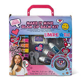 Limited Too Diy Glam Lip Balm Kit Making Kit For Girls - Includes 5 Lip Balm Containers, 5 Sticker Label, 3 Fruity Flavors, 1 Measuring Spoon, 1 Measuring Cup, 1 Pot Of Wax And 1 Bag Of Wax Chips