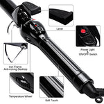Parwin Wand Curling Iron 1 Inch  Ceramic Hair Curler Curling Wand For Long Hair With Ptc Heating And Auto Shut Off Fast Heating, Black