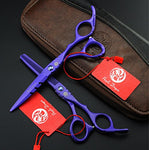 Purple Dragon Professional Japan 440C Hair Salon Cuttingshear And Barber Thinning Scissorhairdressing Shear Set With Bag