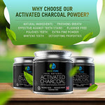 Activated Charcoal Natural Teeth Whitening Powder By Ecco Pure | Efficient Alternative To Charcoal Toothpaste, Strips, Kits, Gels