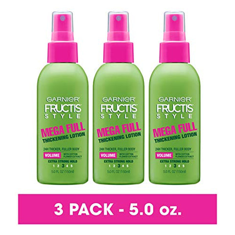 Garnier Fructis Style Mega Full Thickening Lotion All Hair Types, 5 Ounce  (Packaging May Vary)