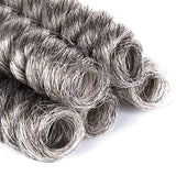 Hairphocas 5 Packs Synthetic Saniya Curly Crochet Hair 10 Inch 20Roots/Pack For Crochet Braids Hair(Gray)