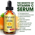 Vitamin C Serum For Face With Hyaluronic Acid, Antioxidant Serum, Anti-Aging, Anti-Wrinkle, Stabilized Formula, Non-Irritating, For A Brighter Complexion, Erase Fine Lines 1 Fl. Oz.