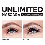 L'Oreal Paris Cosmetics Unlimited Lash Lifting And Lengthening Washable Mascara, Blackest Black, 0.24 Fluid Ounce