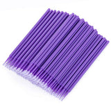 400 Pcs Disposable Micro Swab Applicators Dental Brush Cosmetics Applicators Lip Applicator For Eyelashes Extensions And Makeup Application
