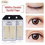 Eyelid Tapes-2 Packs Invisible Olive Shape Sticky Eyelid Stickers - Instant Eye Lift Without Surgery - Perfect For Hooded, Droopy, Uneven, Or Mono-Eyelids ( 480 Pairsstereo)