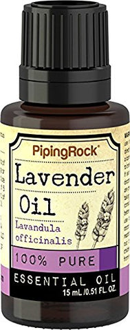 Piping Rock Lavender 100% Pure Essential Oil 1/2 Oz (15 Ml) Dropper Bottle Therapeutic Grade