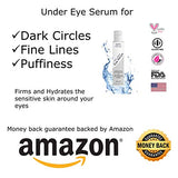 Organic Anti-Aging Eye Serum A Refined Eye Cream For Dark Circles Wrinkles Puffiness Fine Lines By Agevex : Natural Ingredients W/Hyaluronic Acid &Amp; Peptides To Stimulate Collagen &Amp; Skin Cells