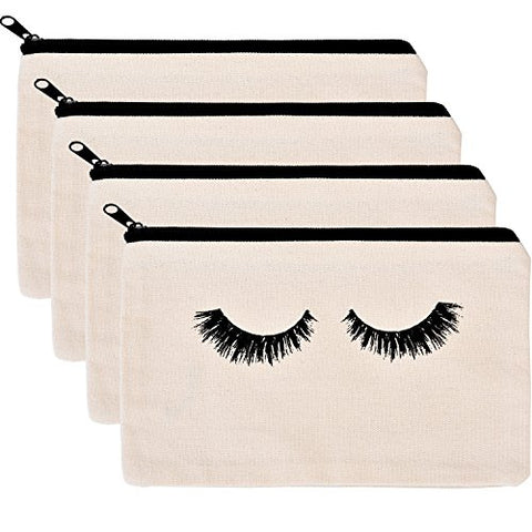 Bbto Makeup Bag Cosmetic Pouch Makeup Pouch Travel Toiletry Eyelash Case With Zippered Pocket