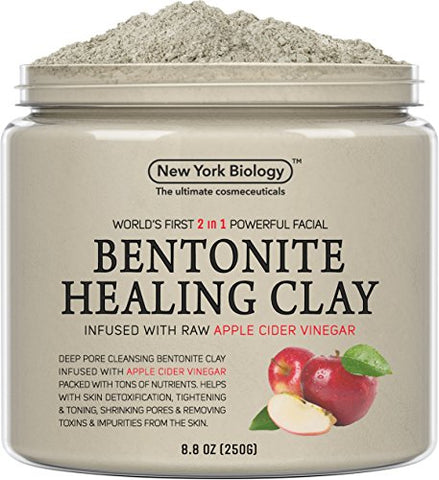 Bentonite Clay Mask Infused With Organic Apple Cider Vinegar  100% Natural - Worlds First 2 In 1 Most Powerful Facial  All Natural Deep Pore Cleansing Helps Remove Impurities From The Skin