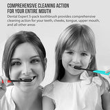 Colorful Charcoal Toothbrush [Gentle Soft] Slim Teeth Head Whitening Brush For Adults &Amp; Children [Family Pack] - Ultra Soft Medium Tip Bristles