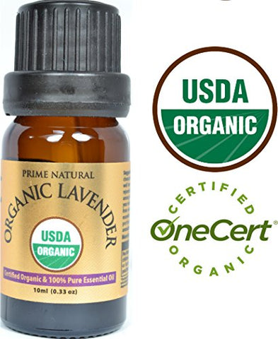 Organic Lavender Essential Oil 10Ml - Usda Certified - Bulgarian - 100% Natural Pure Undiluted Therapeutic Grade For Aromatherapy Scents Diffuser Calming Relaxing Rejuvenating &Amp; Anxiety Relief