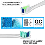 Replacement Toothbrush Heads Compatible With Philips Sonicare 2 Series,3 Series,Protectiveclean,Essence+,Diamondclean,Essential Clean,Healthywhite/+,Flexcare/+ Electric Toothbrush(8 Variety Pack)