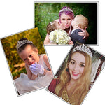 Makone Crystal Crowns And Tiaras With Tomb Headband For Girl Or Women Birthday Party Wedding Prom Bridal