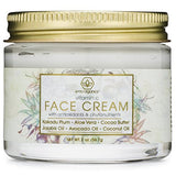 Vitamin-C Face Moisturizer &Amp; Eye Cream - Revitalizing Natural Anti Aging Moisturizer With Kakadu Plum, Jojoba Oil, Avocado Oil, Vitamin E For Dry Skin, Wrinkles, Aging &Amp; Eye Bags 2.0Oz/56.6G