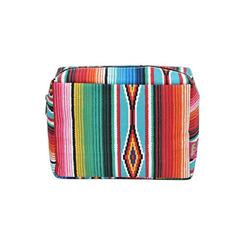 N. Gil Large Travel Cosmetic Pouch Bag 3 (Serape Black)