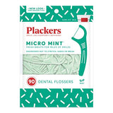 Plackers Micro Mint Dental Floss Picks, 90 Count