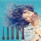 Ohuhu 5 In 1 Curling Iron Wand Set With 5 Interchangeable Ceramic Barrels And Heat Protective Glove For Girls Women Gifts