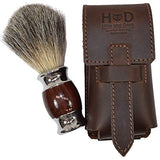 Thick Leather Shaving Barber Brush Case/Travel Protective Sleeve Handmade By Hide &Amp; Drink :: Bourbon Brown
