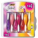 Bic Soleil Color Collection Women'S Disposable Razor, 3 Blade, 14-Count