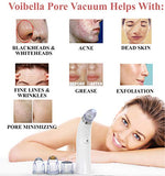 Voibella Pore Vacuum Blackhead Remover  Best Electric Comedone Extractor, Pore Cleanser Suction &Amp; Microdermabrasion Cleaning Tool - Removal Of Whiteheads, Acne, Pimples &Amp; Zits On Nose, Face &Amp; Skin
