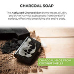 O Naturals 3-Piece Detoxifying Charcoal &Amp; Peppermint Soap. 100% Natural. Face, Hands &Amp; Body Wash. Pore Refining, Helps W/Acne, Blackheads, Blemishes &Amp; Oily Skin. Made In Usa. Triple Milled Vegan 4 Oz