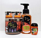 Bath And Body Works Purrfect Pumpkin 5 Pc Bundle Sweet Cinnamon Pumpkin 3-Wick Scented Candle (2) Mini Candle, Foaming Hand Soap And Pocketbac