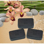 Dead Sea Salt Charcoal Soap 3 Pk  Activated Charcoal, Shea Butter, Argan Oil. For Problem Skin, Skin Detox, Acne Treatment, Eczema, Psoriasis, Antibacterial, Anti Aging, Natural Fragrance 3/7 Oz Bars