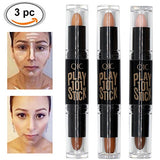 Contour Stick, Concealer Contour, Highlighters Stick, Face Highlighters, 6 Colour Make Up Concealer Contouring Stift, Makeup Double-End Highlight Contour Sticks Cream Set Bronzer And Highlighter Stick