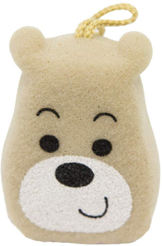 Bear (Head) Baby Sponge - Fun Bath Toy For Children - Made Of Pu Foam, High-Density, High-Absorbent, Safe, And Durable - General Washing, Showering, Bathing, Bubble Bath, And Body Cleaning
