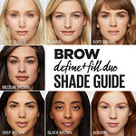 Maybelline Brow Define + Fill Duo Makeup, Soft Brown, 0.021 Oz.