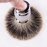 Grandslam Finest Badger Shaving Brush With Resin Handle- Engineered For The Best Shave Of Your Life (Gray)