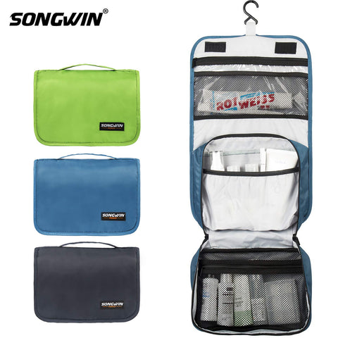 Hanging Toiletry Bag Multifunction Cosmetic Bag Portable Makeup Organizer For Women Girls And Men,Waterproof Bathroom Shower Bag With Hook.